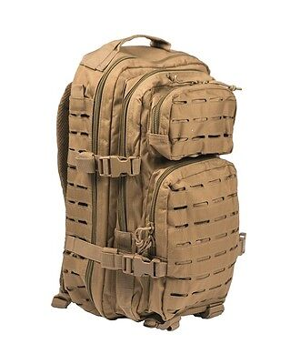 Mil-Tec Us Assault Pack Sm Laser Cut Coyote Rucksack Backpack Army Outdoor