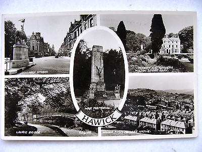 Hawick Multiview Valentine RP c.1950 High St; fm Miller's Knowe Wilton Lodge Pk