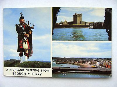 Broughty Ferry Angus Multiview Piper & Castle Used 1976 Colourmaster