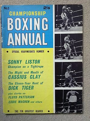 Championship Boxing Annual No.1 1963 - SONNY LISTON, CASSIUS CLAY, DICK TIGER