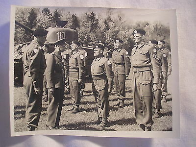 British Army Invasion Force Normandy D-Day Tank Crews Unit History PHoto