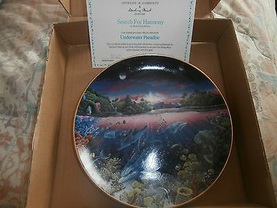 Danbury Mint Underwater Paradise Search For Harmony    New In Box & Cert