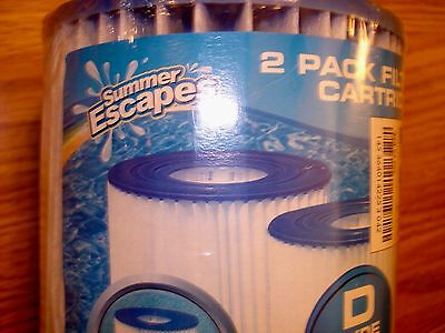 2 pack Summer Escapes D type Universal Filter Cartridges
