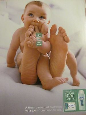 Lever 2000 Soap, Full Page Vintage Print Ad