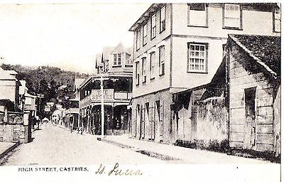 Fine St Lucia p/c High Street, Castries. Posted 1907. Good Condition.