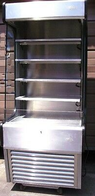 Lighted 5 shelf tiered Display Merchandiser Case Product shelves nonrefrigerated