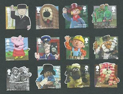2014. Childrens Tv Characters. Full Set. Good To Fine Used.