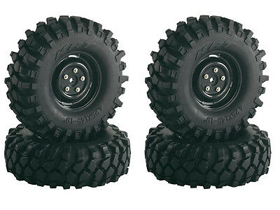 """Absima 1/10th Scale Crawler Steelhammer 1.9"""" Wheels and tyres (4) 108mm 2500030"""