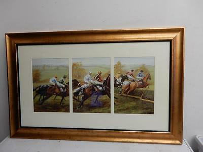 large picture MARK SMALLMAN print HORSE RACING