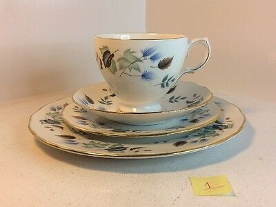 Colclough  Cup, Saucer, Side Plate And Tea Plate Set With Linden Pattern (370)