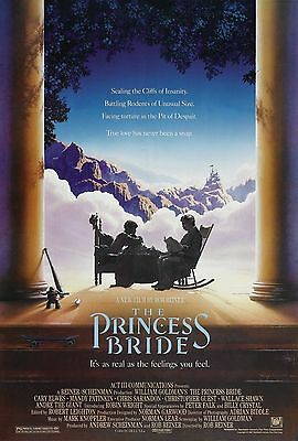 The Princess Bride movie poster approx size 21cm x 30cm