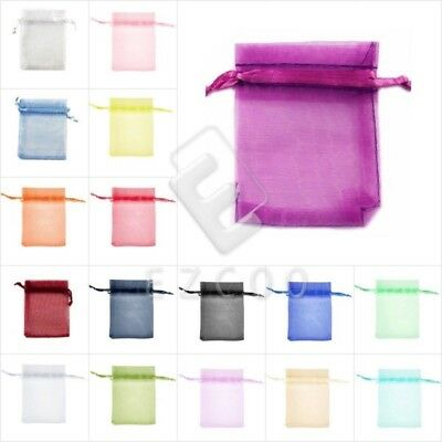 20/40/60/100pcs 7x9cm Organza Gift Bags Rectangle Jewellery Candy Pouches BB1