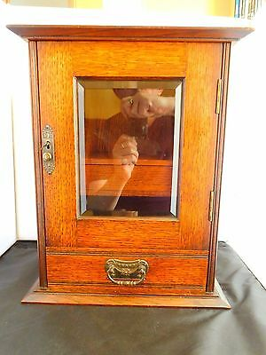 Superb Quality Edwardian Smokers Cabinet With Key