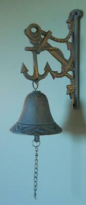 Iron Anchor Bell Hanging Bells Ships Anchor Bell Nautical Decor Bars Tavern Pub