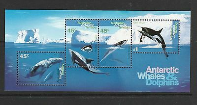 AAT 1995 Whales & Dolphins MS UM/MNH SG MS112