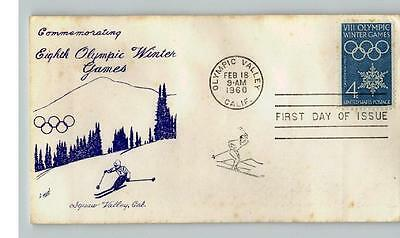 WINTER OLYMPIC GAMES, Squaw Valley, California, pic Skiier, 1960 First Day of Is