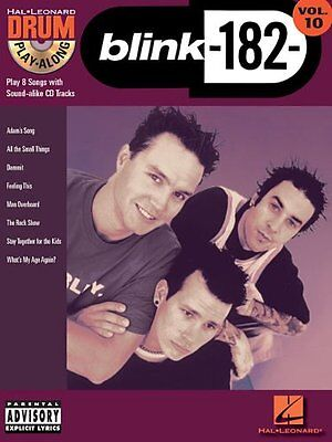 Blink 182 Drum Play Along Vol. 10 Sheet Music Book + CD. Greatest Hits Best Of