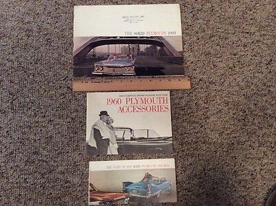 Plymouth 1960 Brochure Deluxe Standard Accessory Lot Of 3