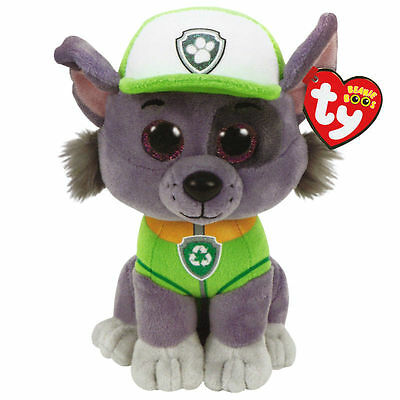 """Ty Beanie Boos ~ ROCKY the 6"""" Dog ~ NEW for 2017 ~ MINT with MINT TAGS"""