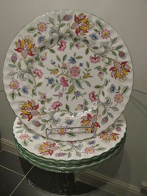 "6 x Minton Haddon Hall Green 10.5"" Dinner Plates  - 1st Quality"