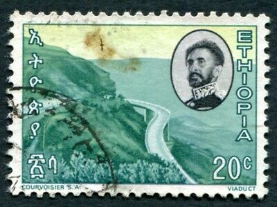 ETHIOPIA 1965 20c multicoloured SG615 used NG Mountain highway #W5
