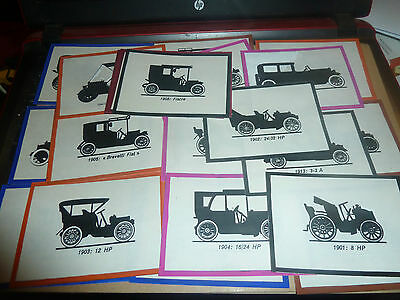 Unknown Paper Cards -Veteran Motorcars Poss Full Set-Large Type Cards