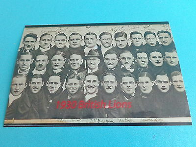 "BRITISH LIONS  1930 RUGBY UNION  TEAM     6""x4""  Photo REPRINT"