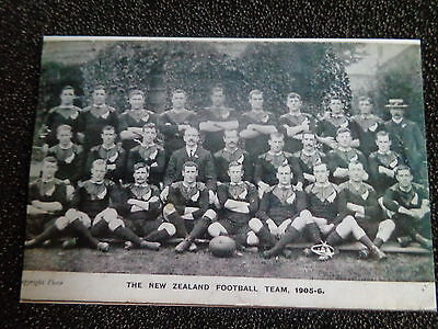 "NEW ZEALAND  RUGBY UNION  TEAM   1905/06      6""x4""  Photo REPRINT"