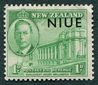 NIUE 1946 1d green SG98 mint MH FG Victory Omnibus Issue #W6