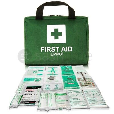 90 Piece First Aid Kit Bag Medical Emergency Kit. Travel Home Car Taxi Workplace