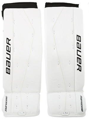 "NEW Bauer Supreme ONE.7 Hockey goalie pads - 32+1"" Senior - White"