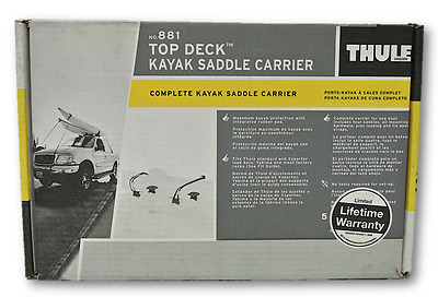 Thule Top Deck 881 Kayak Saddle Carrier Complete