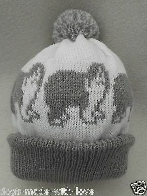 OLD ENGLISH SHEEPDOG dog NEW Knitted Adult size beanie pompom bobble HAT