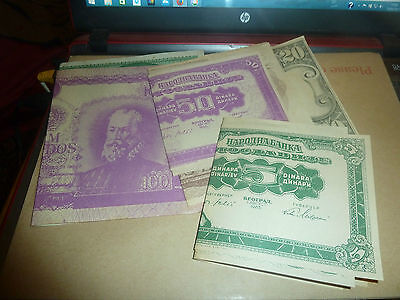 Unknown Series Of Large Bank Note Posters -Interesting All Listed