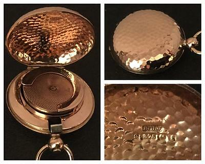 A Superb 9 Ct Rose Gold 'golfball Patterned' Sovereign Case Hm. Birmingham 1905