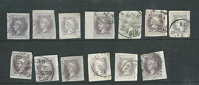 Austria Empire very old used imperf mercury newspaper stamps