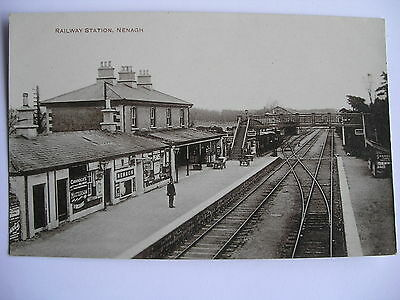 Vintage Real Photo Postcard Railway Station  Nenagh Tipperary Ireland  Postcard