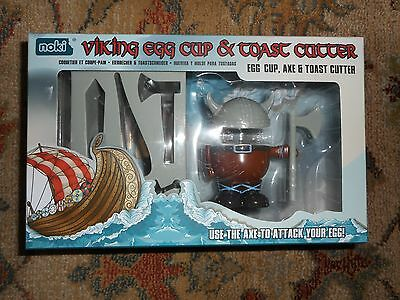 Brand New In Box ~ Paladone Viking Egg Cup & Toast Cutter Gift Set !