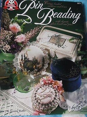 Pin Beading Pattern Book Vintage Beaded Cushions & Boxes Suzanne Mcneill