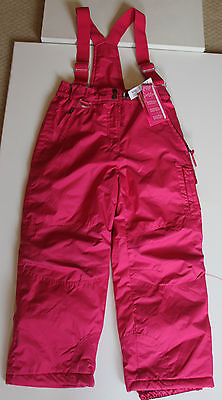 Girls Pink 32 Degrees Ski Pants Salopettes Trousers & braces - age 10-12 & BNWT