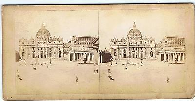 Stereoview - St Peter's Rome By Libreria Spithover