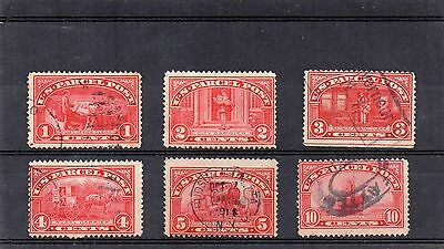 USA - used Parcel Post x 6