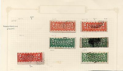 Canada -  Used Registration stamps x 6