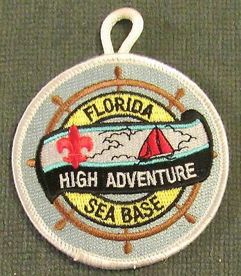 Boy Scouts of America Florida High Adventure Sea Base Patch w/ Button Loop MINT!