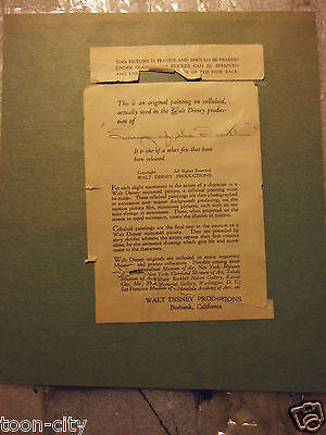Original Courvoisier Galley Certificate of Authenticity 1940s Song of the South