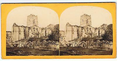 Stereoview - Fountains Abbey Yorkshire