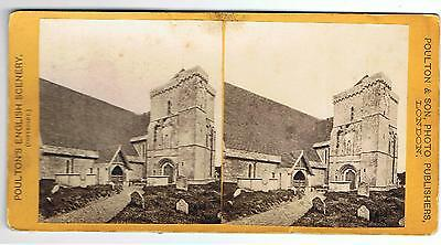 Stereoview - St Mary's Church Clymping Sussex By Poulton