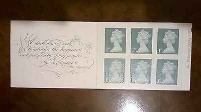2013 6 first class stamps greetings booklet the queens promise mint