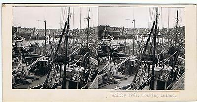 Stereoview - Harbour Whitby 1961 , Looking Inland