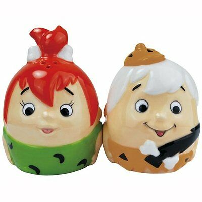 The Flintstones Pebble and Bamm-Bamm Egg Ceramic Magnetic Salt & Pepper Shakers